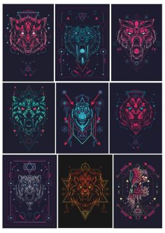 Animals Geometric Print
