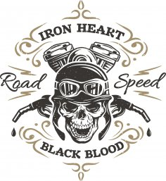 Iron Heart Print CDR File