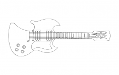 Guitar Opener dxf File