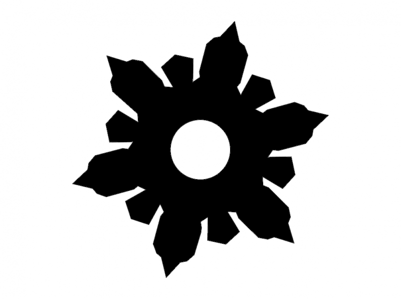 Vector Snowflake dxf File
