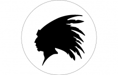 Indian Head Outline dxf File