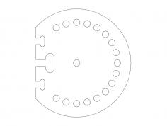 angle-mount-base dxf File