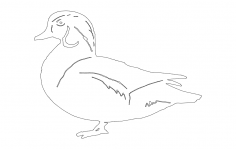 Wood Duck dxf File