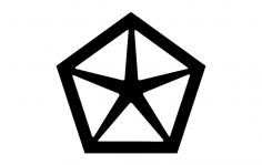 Chrysler Old Logo dxf File