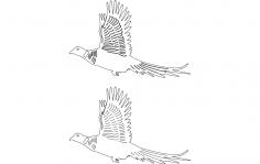 Birds Flying dxf File