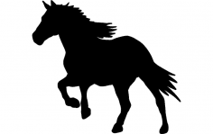 Horse  Running 1 dxf File