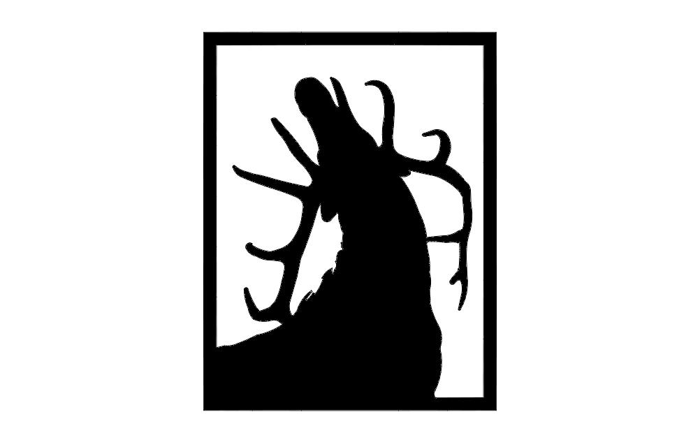 Elk Call dxf File