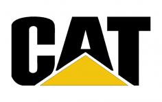 Caterpillar Cat Logo dxf File
