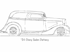 34 Chevy Sedan Delivery dxf File