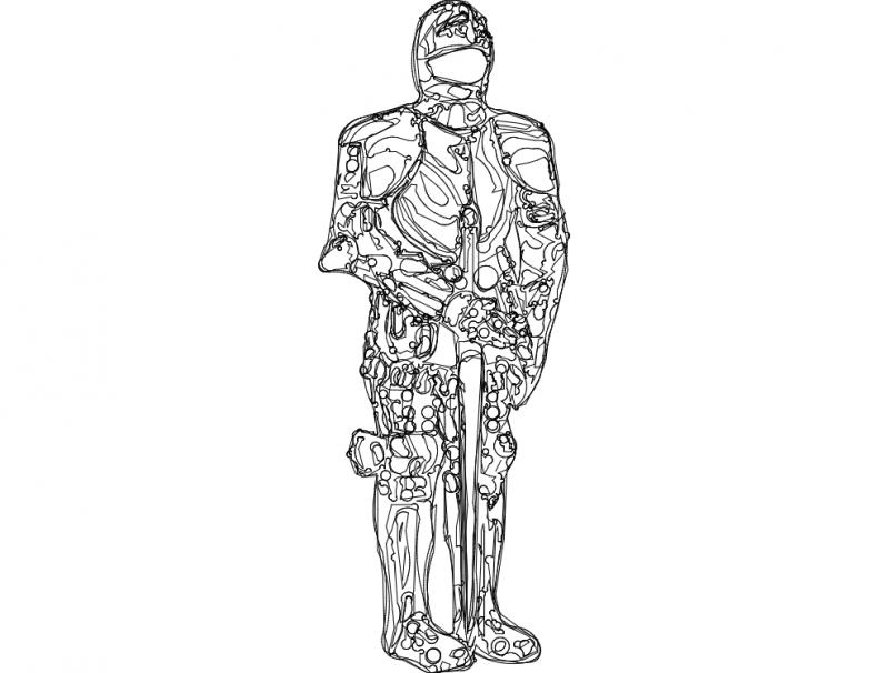 Armor Suit 2 dxf File