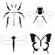 Bug Fly Butterfly dxf File