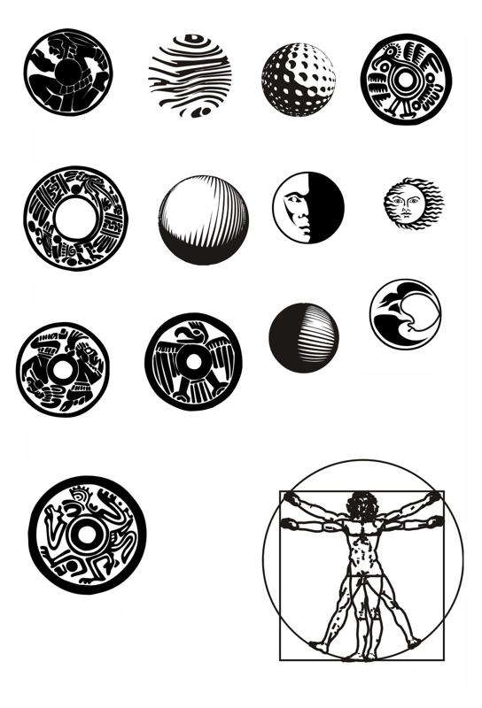Round Pattern Circular Ornament Elements