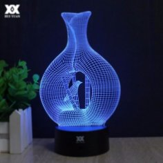 Vase Shape 3D Lamp Vector Model Free Vector