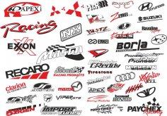 Auto Sticker Logo Vector Set Free Vector