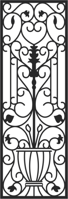 Faux Wrought Iron Pattern CDR File