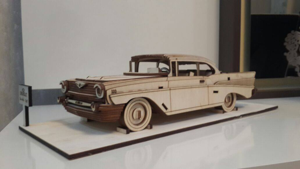 Chevrolet Bel Air 1957 Vector file for laser cutting CNC Free Vector