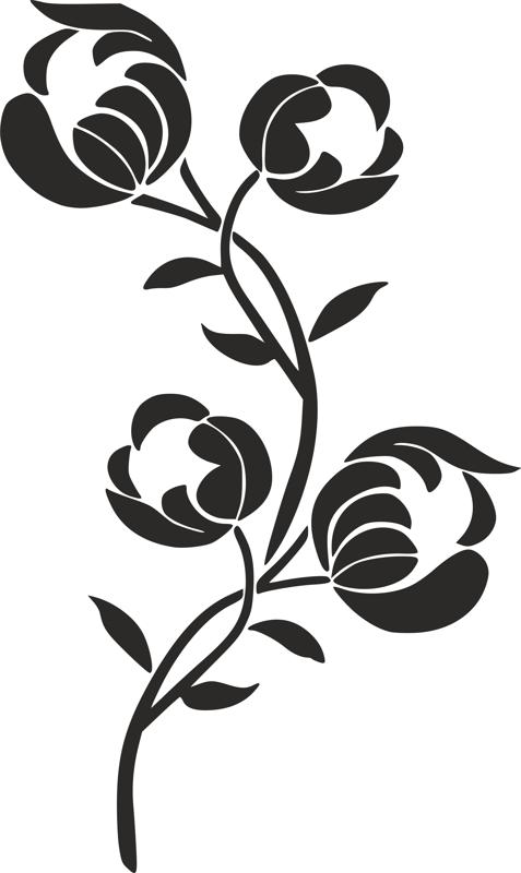 Flower Stencil Siluetas Carving Pattern dxf File