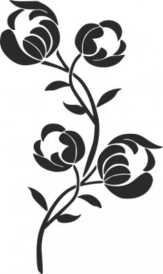 Flower Stencil Siluetas Carving Pattern dxf File