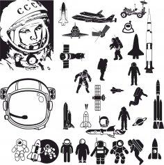 Astronaut Vector Art CDR File