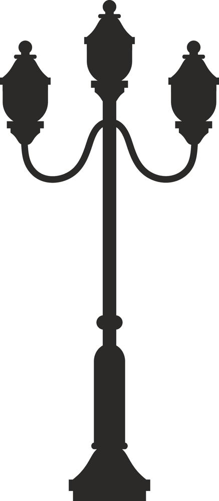 Street Lamp Silhouette Dxf File Free Download 3axis Co