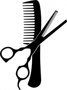 Hairdresser Comb And Scissors Free Vector