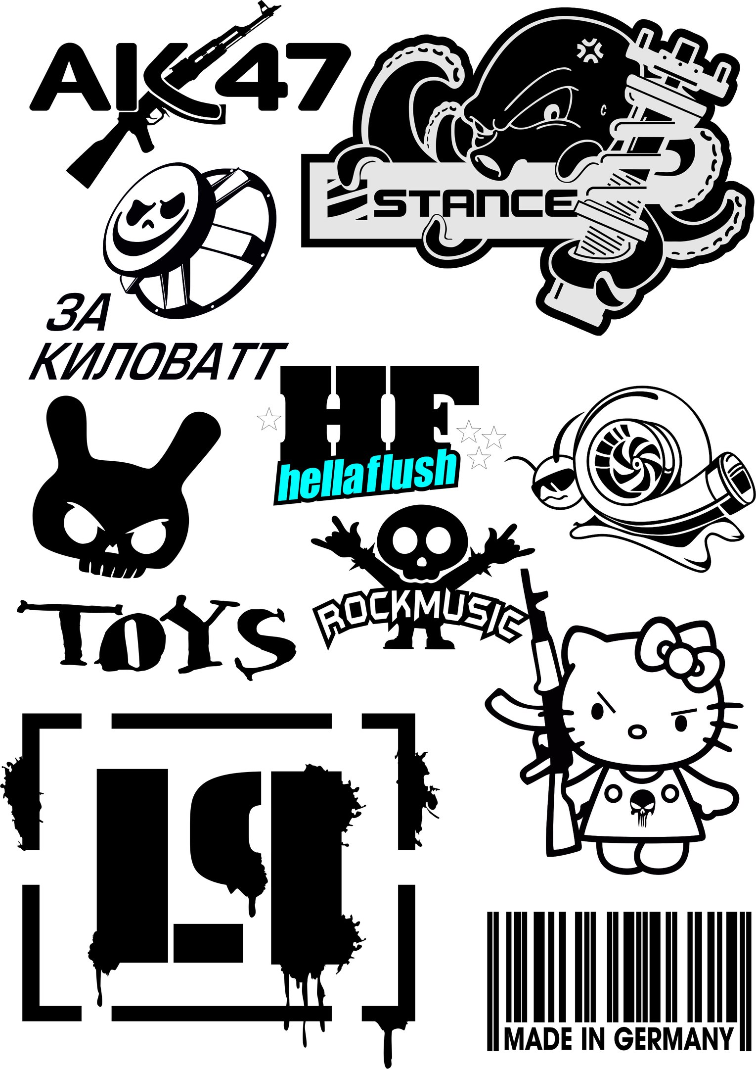 Vector car stickers Free Vector cdr Download - 3axis.co