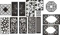 Abstract Floral Pattern Vectors Set CDR File