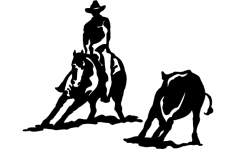 Rodeo Silhouette 2 dxf File