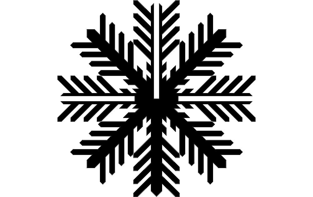 Snowflake B dxf File