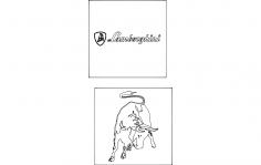 Lamborghini Logo dxf File