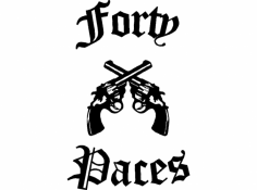 Forty Paces dxf File