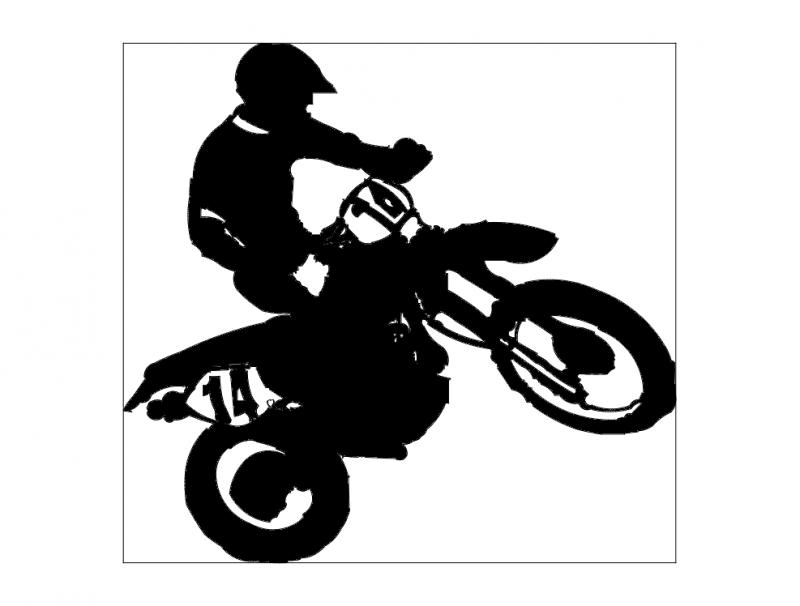 dirtbike-1 dxf File