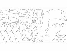 Christmas Deer dxf File