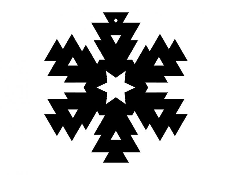 Snowflake Design 416 dxf File