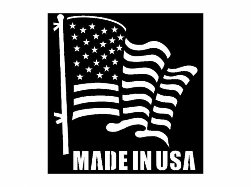 Flag Made in USA dxf File