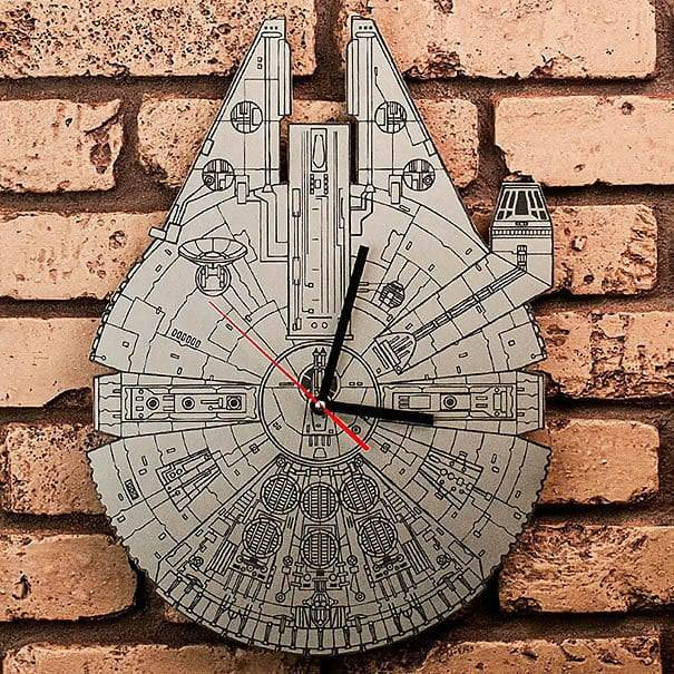 Star Wars Millennium Falcon Clock dxf File