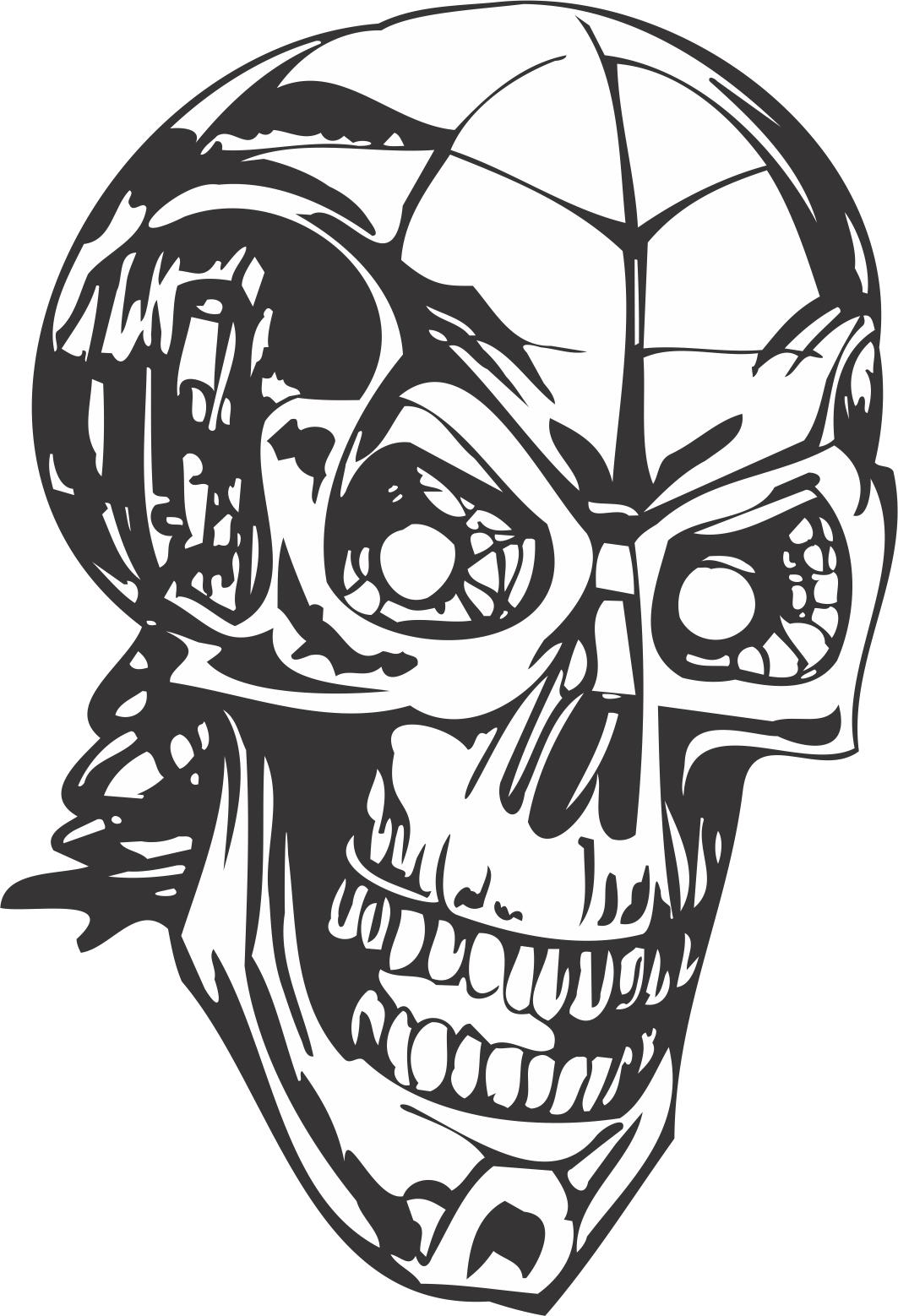 Human Skull Skeleton DXF File