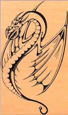 дракон DXF File