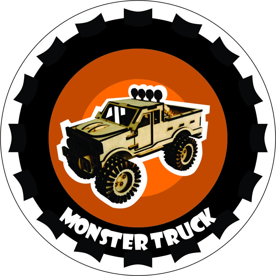 Monster Truck Laser Cut PDF File