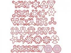 Laser Cut Fidget Spinners DXF File