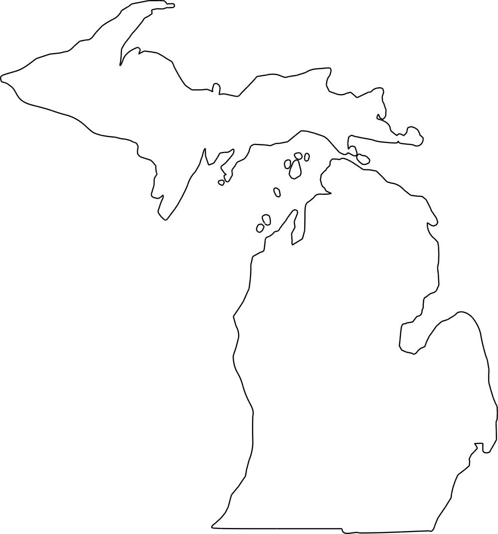 Michigan Outline DXF File