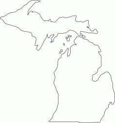 Michigan Outline DXF File