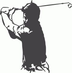 Golfer DXF File