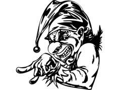 Scary Clown 012 dxf File