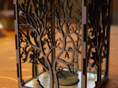 Wooden Candle Holder Laser Cut DXF File