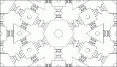 Arabic Geometric Pattern DWG File