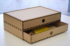 Laser Cut Sliding Box Free Vector