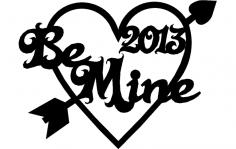 Valentine 2013 dxf File