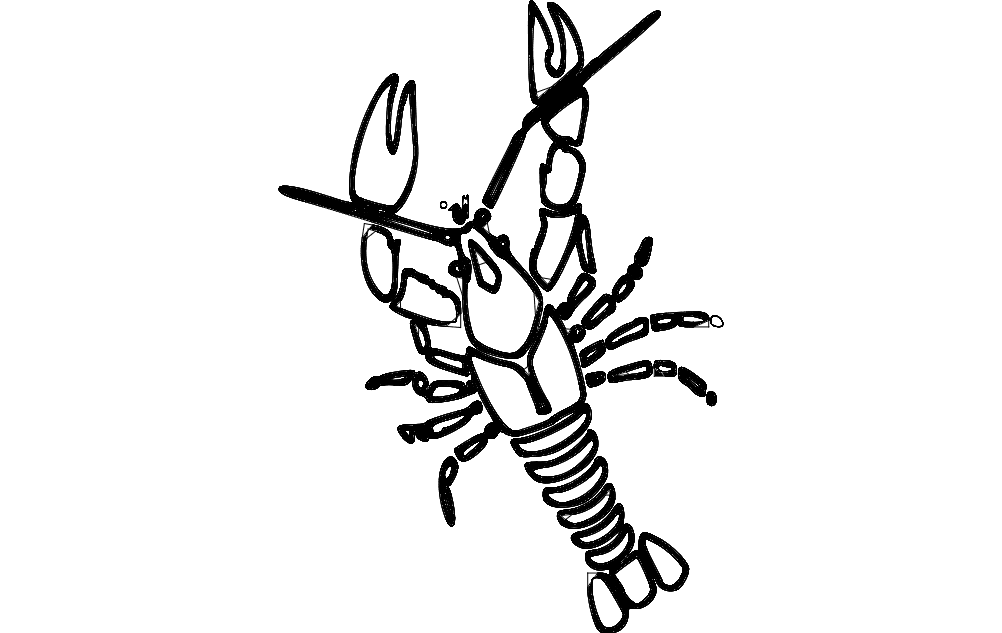 Crawfish dxf File