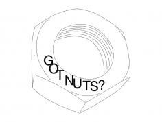 Nut dxf File